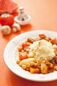 Couscous végétarien aux champignons