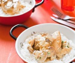 Poulet au curry et aux champignons