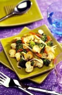 Champignons aux petits légumes