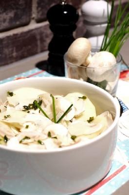Salade de champignons pommes verte et parmesan